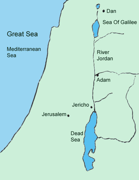 Crossing The Jordan - World map jordan river